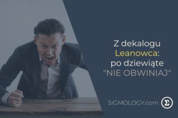 Z-dekalogu-Leanowca-po-dziewiąte-nie obwiniaj-SIGMOLOGY-BLOG